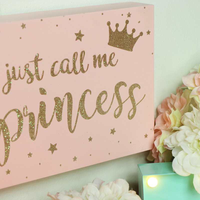 Pink Princess Wall Plaque