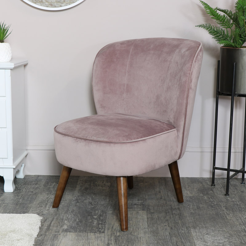 Stupendous Pink Velvet Accent Chair Pdpeps Interior Chair Design Pdpepsorg