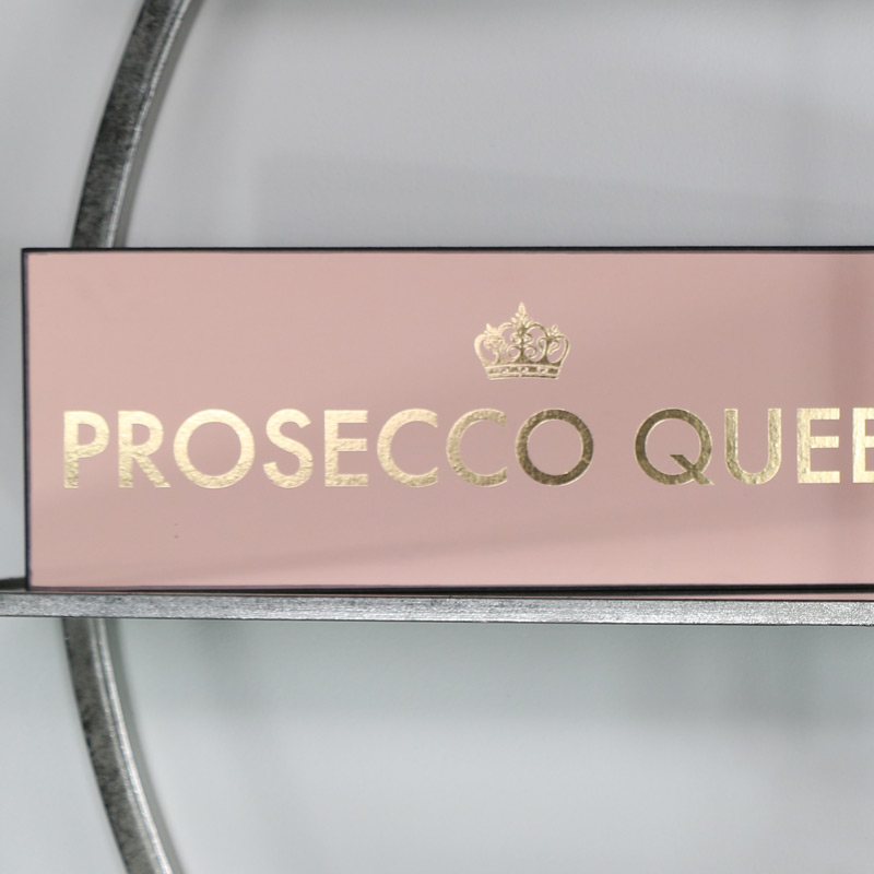 "Pink Wall Plaque ""Prosecco Queen"""