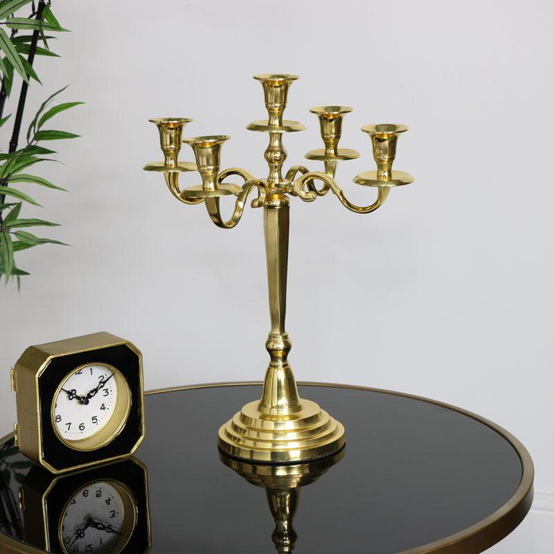 Polished Gold Candelabra