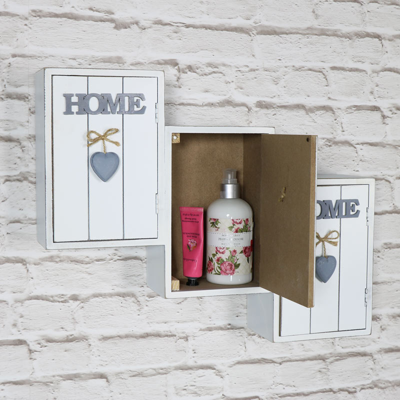 Pretty 'Home Sweet Home' Wall Mounted Cabinet