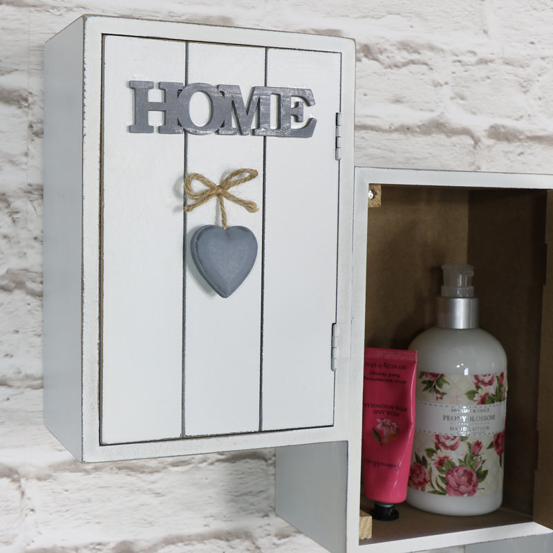 Pretty 'Home Sweet Home' Wall Mounted Cabinet - Melody Maison®