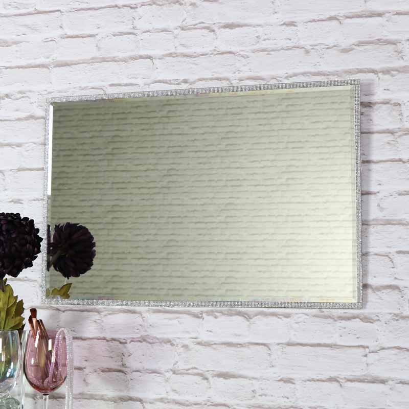 Pretty Jewel Framed Wall Mounted Vanity, 40 X 60cm Mirror