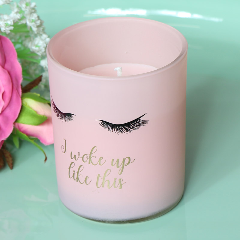 Pretty Pink Scented Eyelash Candle