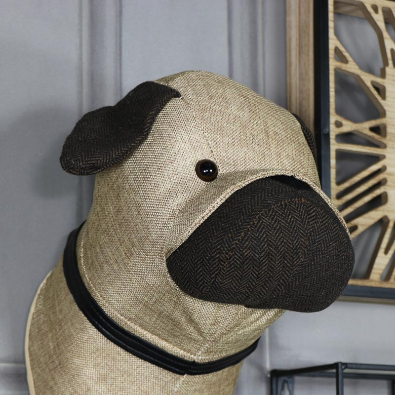 Pug Head Wall Decoration