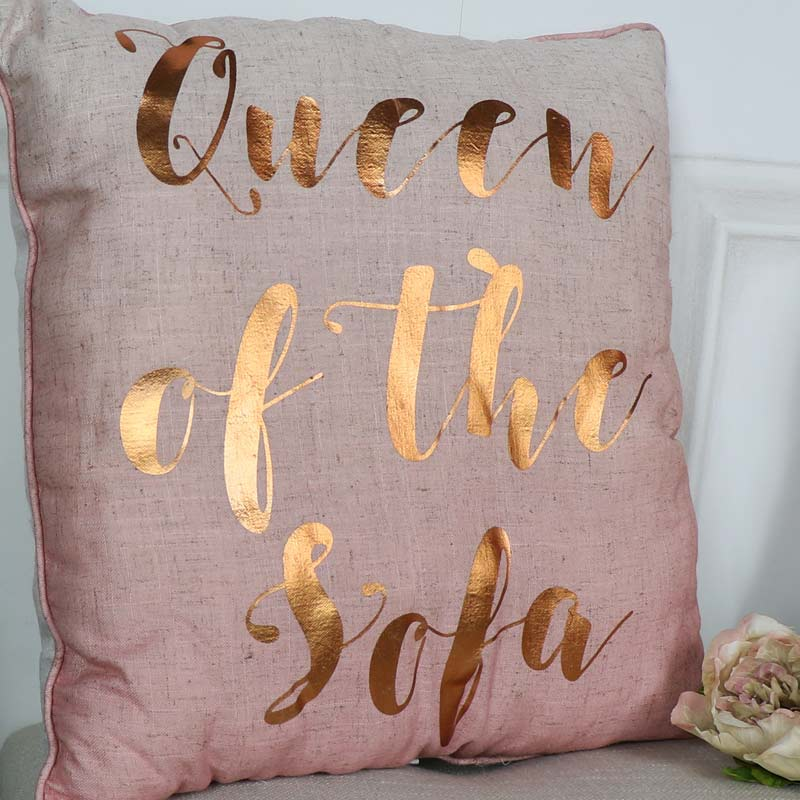 Queen of the Sofa Pink Scatter Cushion