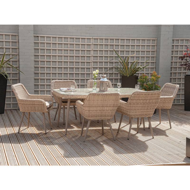 Rattan 7 Piece Garden Dining Set