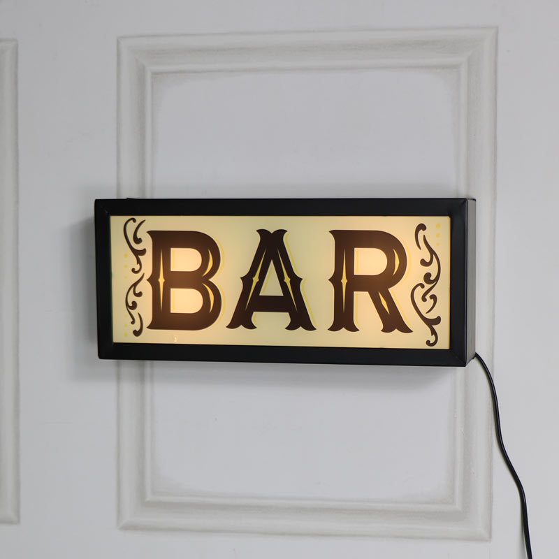 Retro 'Bar' Wall Mounted Box Light