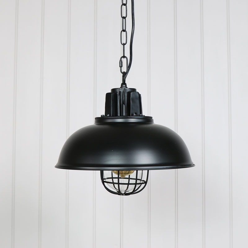 Black Metal Industrial Pendant Ceiling Light Vintage Retro