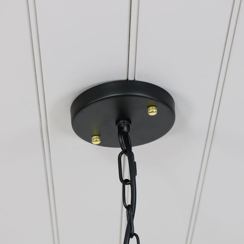Retro Industrial Style Black Metal Caged Ceiling Pendant Light