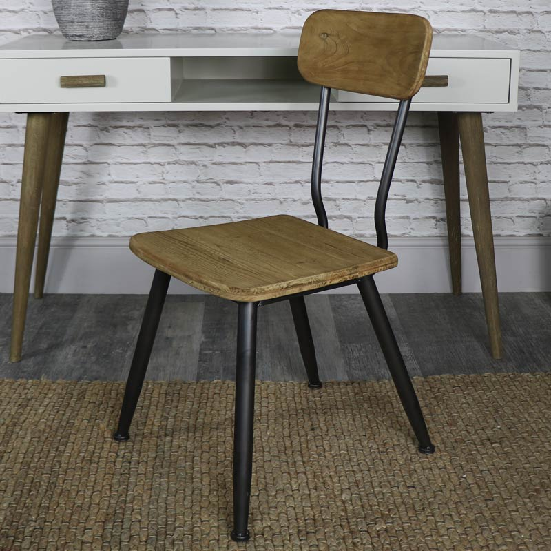 Retro Industrial Style Dining Chair Melody Maison