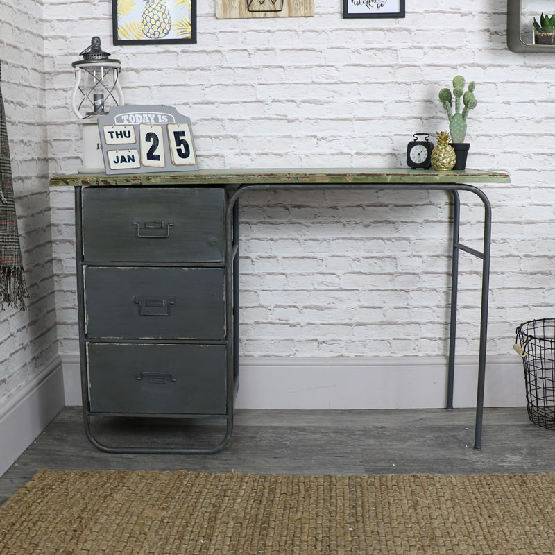 Retro Industrial Style Dressing Table Desk Melody Maison