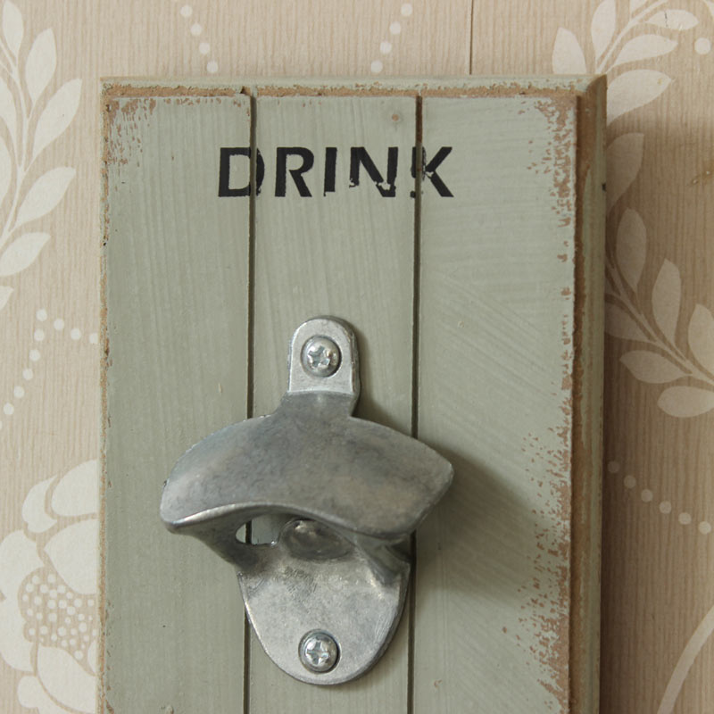 retro wall mounted bottle opener home kitchen bar shabby vintage chic gift grey ebay. Black Bedroom Furniture Sets. Home Design Ideas