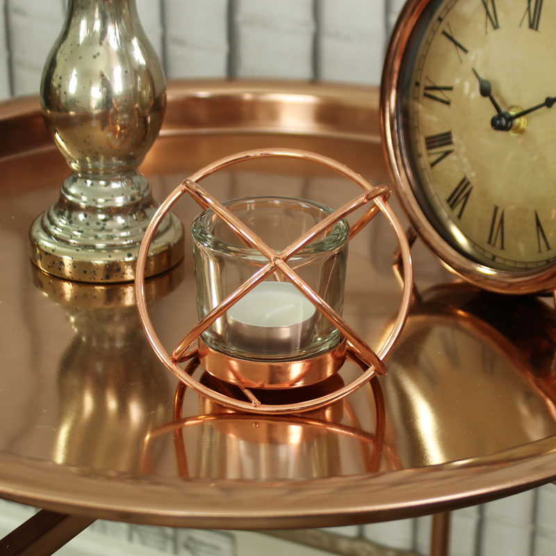 Rose Gold Crossing Candle Holder