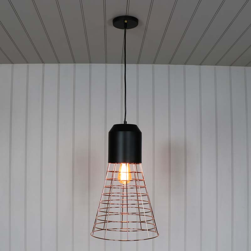 Rose Gold Wire Pendant Ceiling Light Restro Vintage
