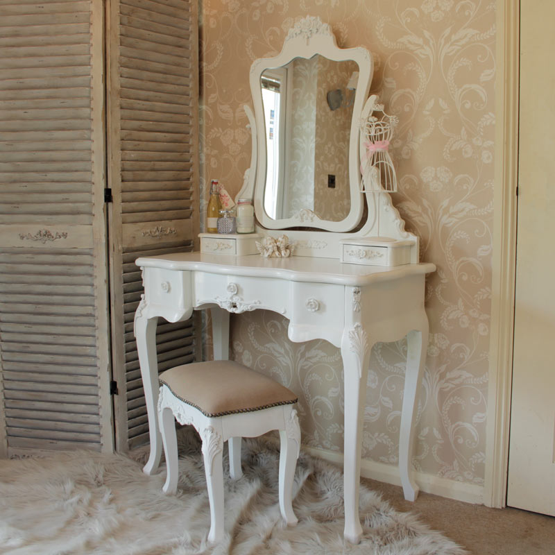Furniture bundle dressing table mirror stool set chest for Cheap dressing table with mirror