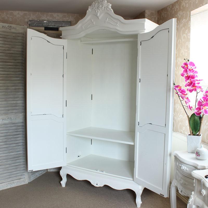 Rose Range - Mirrored Double Cream Wardrobe