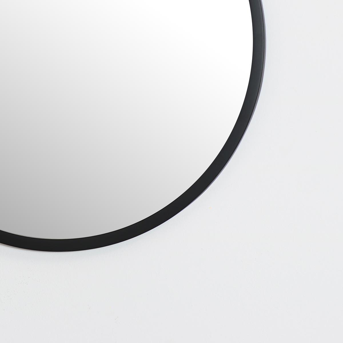 Round Black Wall Mirror 50cm x 50cm