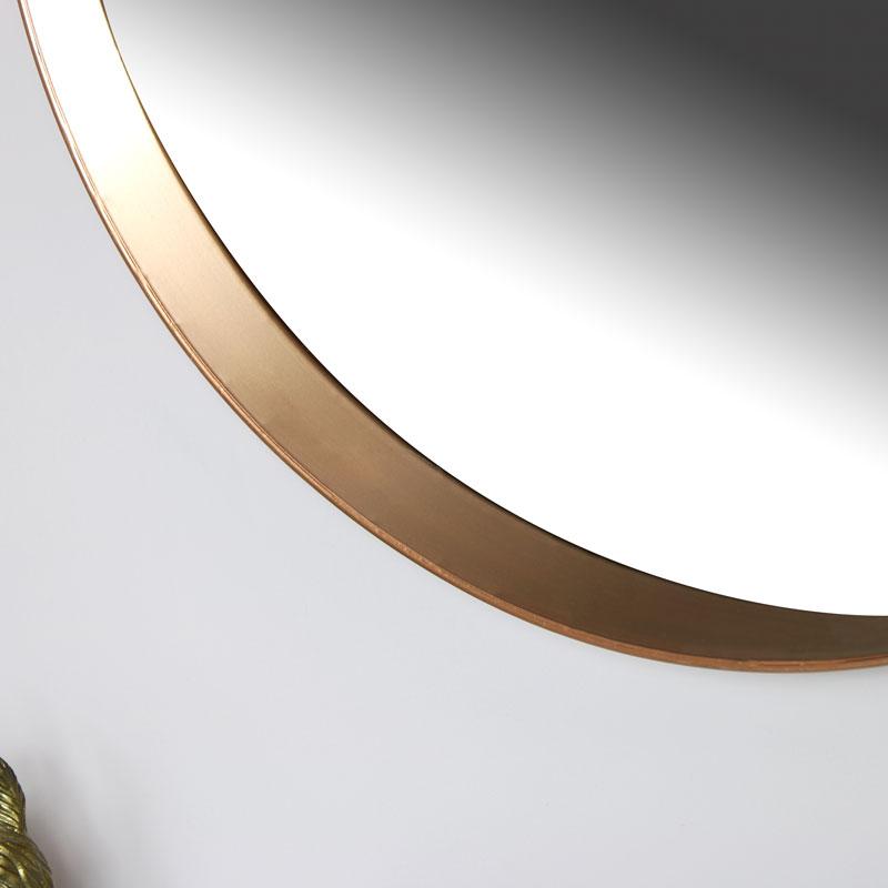Round Copper Wall Mirror 61cm x 61cm