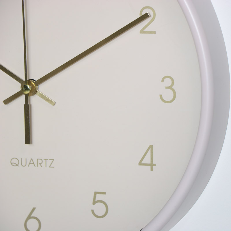 Round Cream Wall Clock