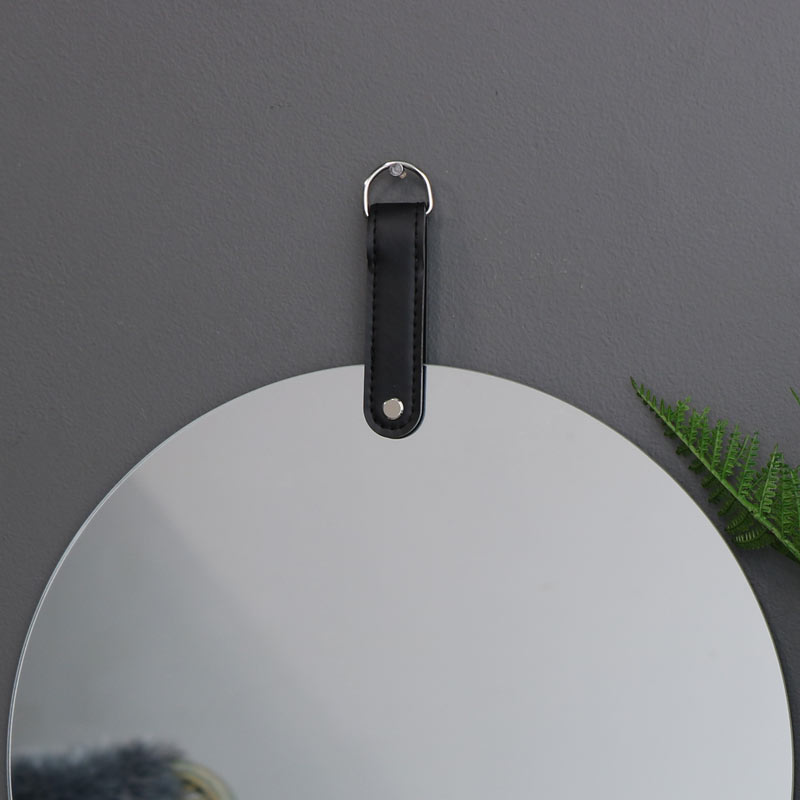 Round Frameless Wall Mirror