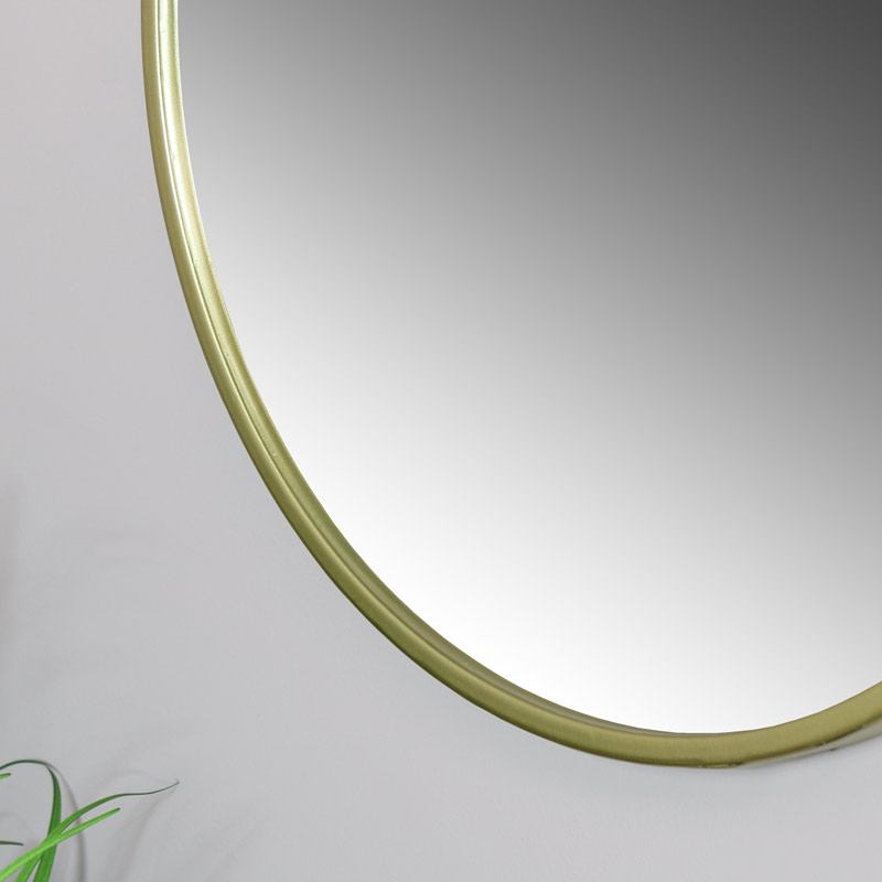 Round Gold Framed Wall Mirror 45cm x 45cm