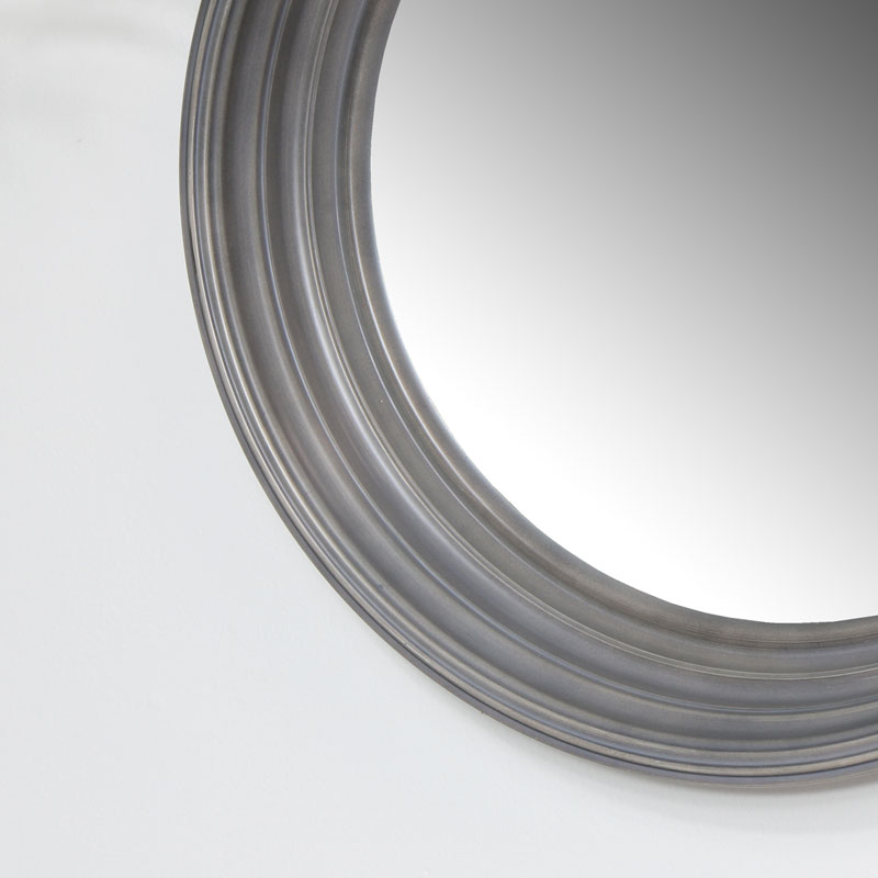 Round Grey Wall Mirror 40cm x 40cm