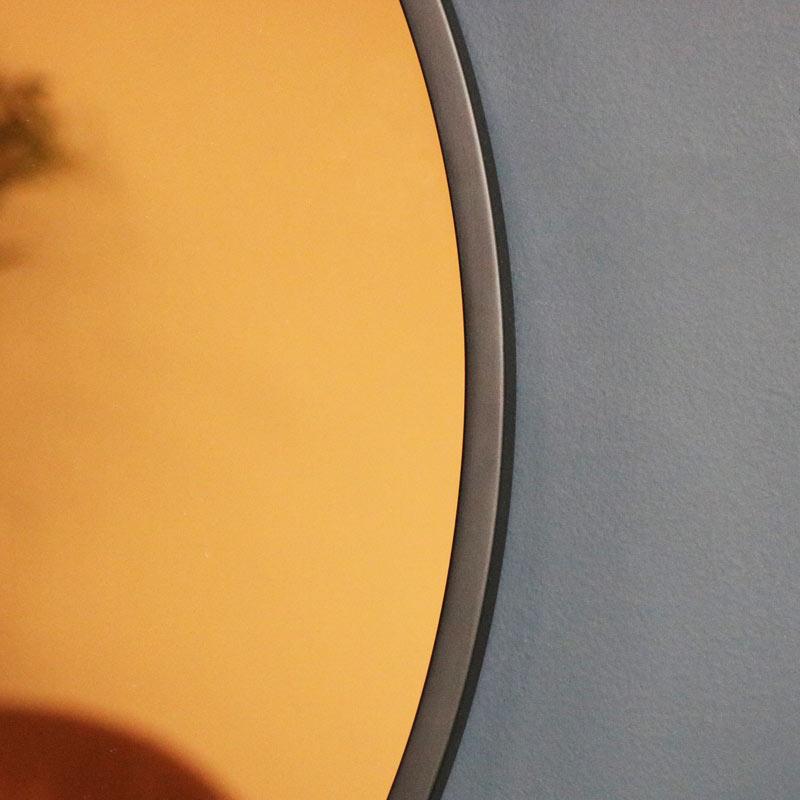 Round Smoked Copper Wall Mirror 74cm x 74cm