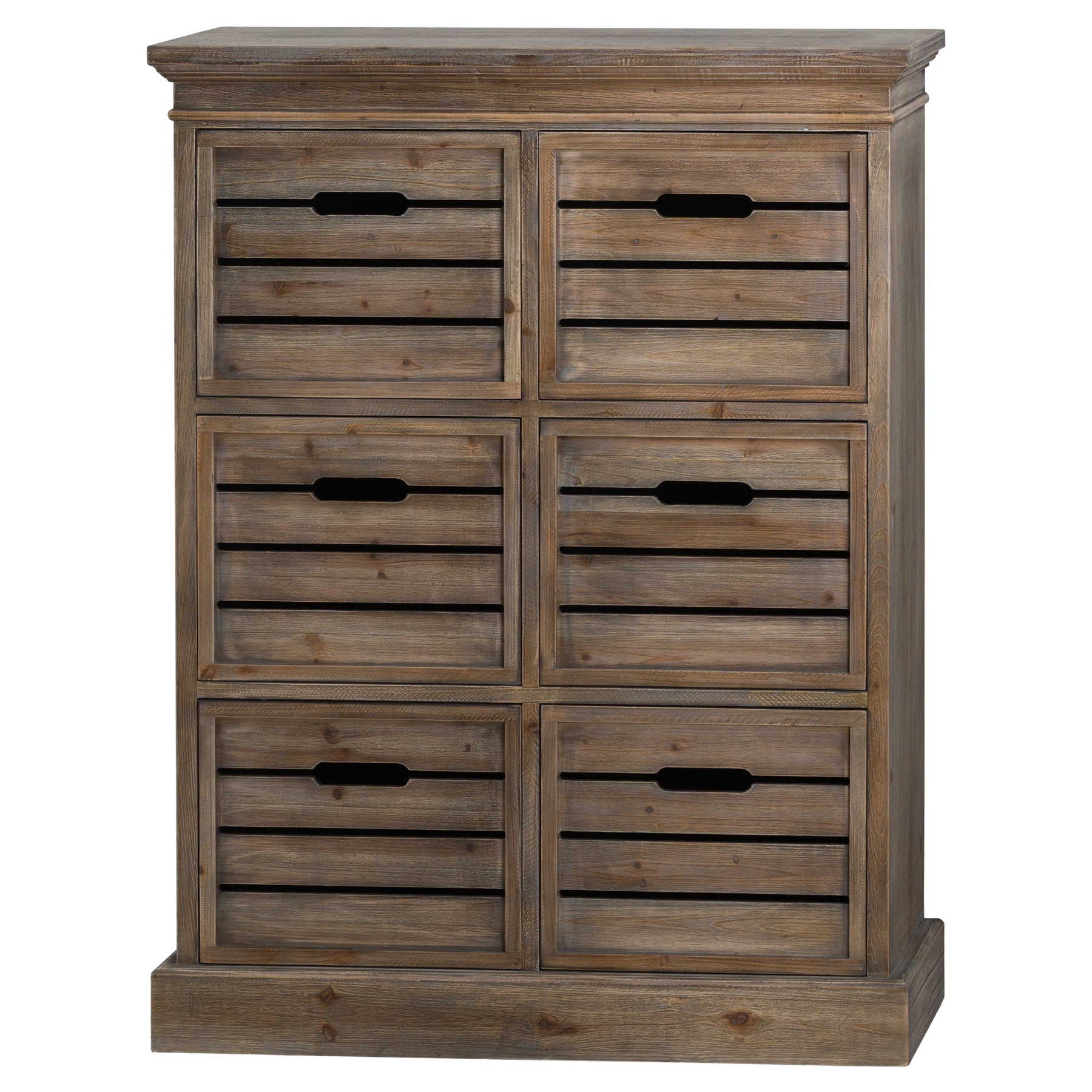 Rustic 6 Drawer Chest of Drawers - Somerset Range