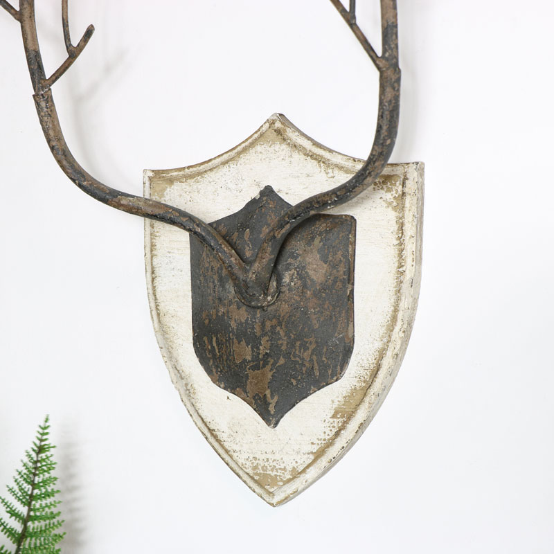 Rustic Antler Wall Plaque