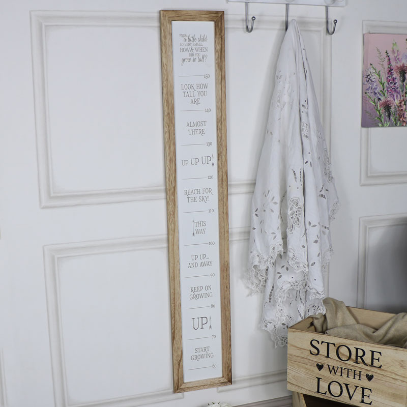 Rustic Baby Poem Height Chart Wall Plaque