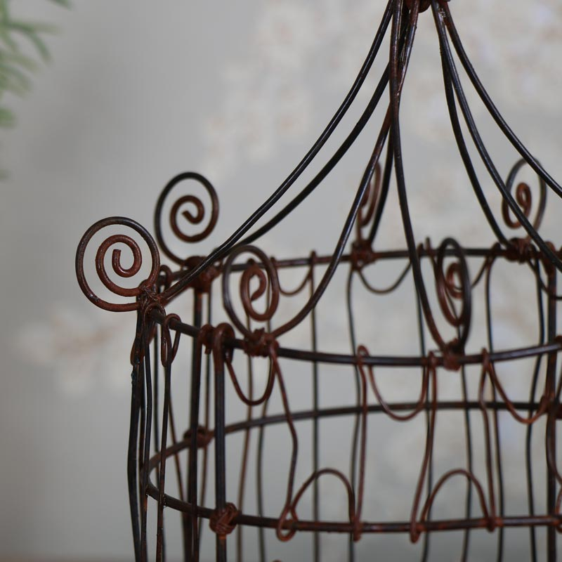 Rustic Birdcage Candle Lantern