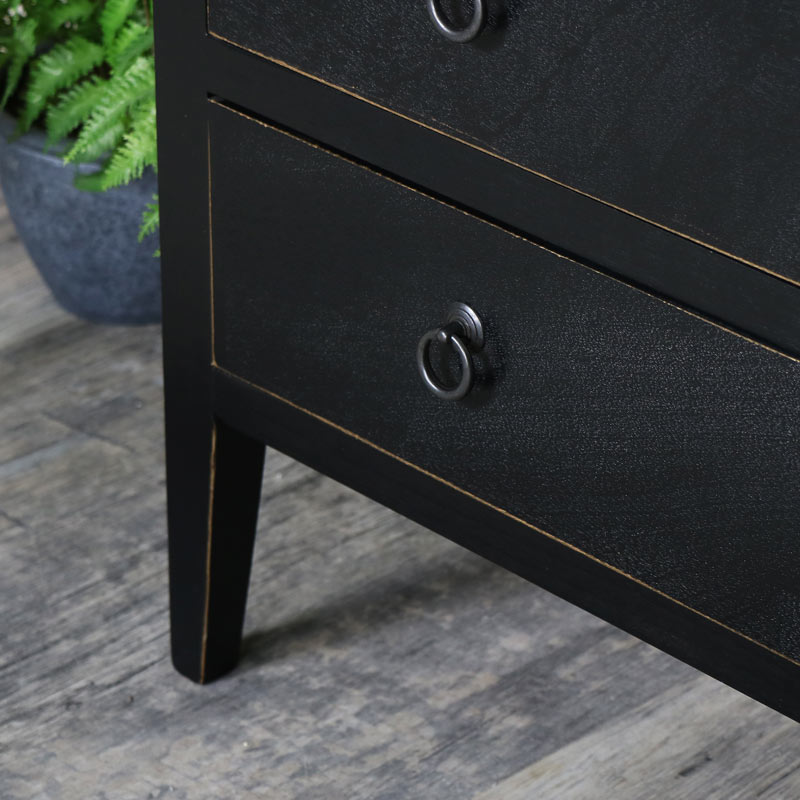 Black Chest of Drawers - Mika Range