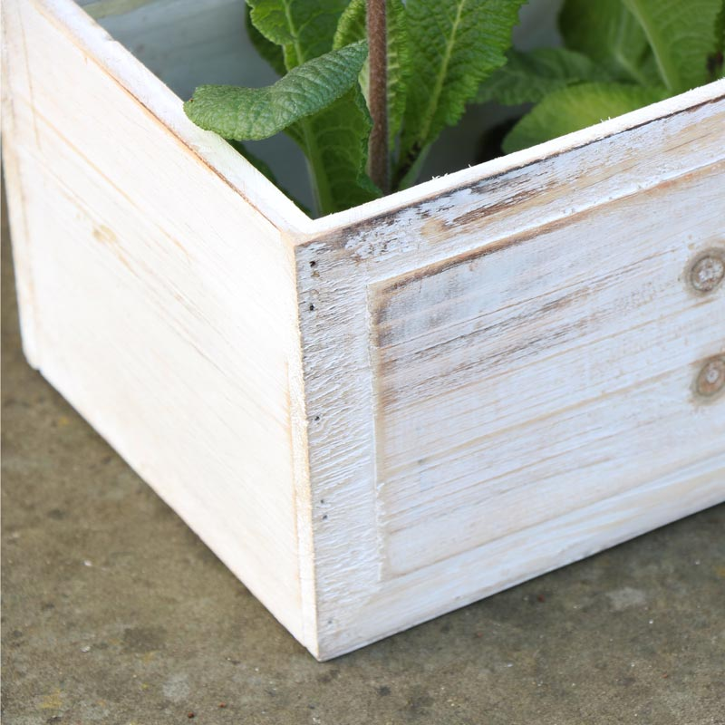 Rustic Crate Flower Garden Planter