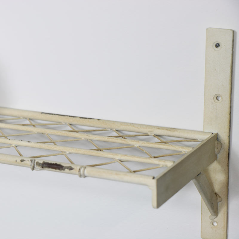 Rustic Cream Metal Shelf