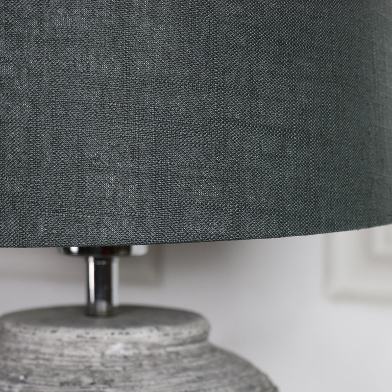 ... Rustic Grey Stone Round Table Lamp ...