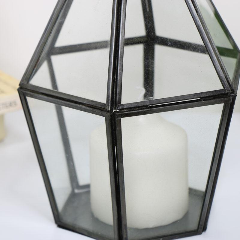 Rustic Grey Terrarium Candle Holder