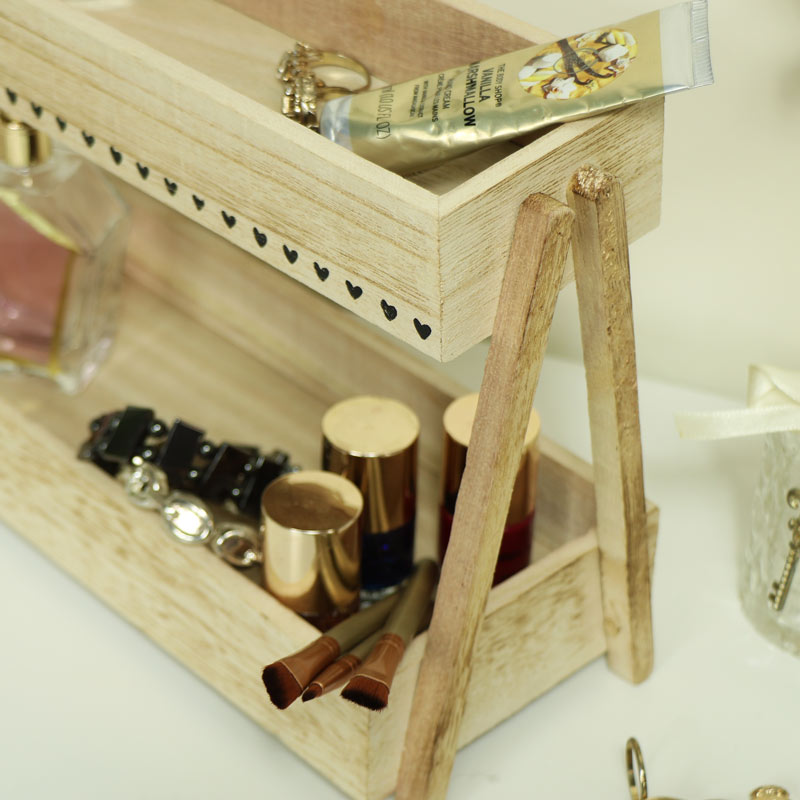 Rustic Makeup Storage Caddy