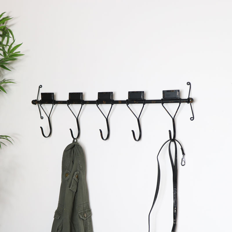 Coat Rack with Shelf (Choose your Length) Towel Rack Entryway Organizer Wall Mounted Hooks