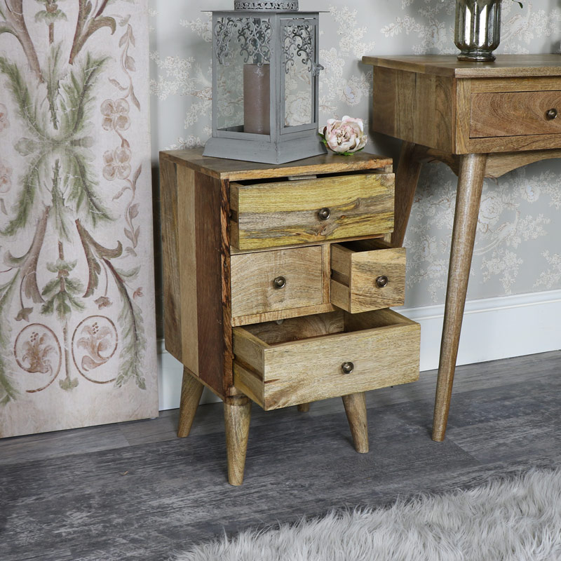 Rustic Natural Wood Storage/Bedside Chest - Oslo Range