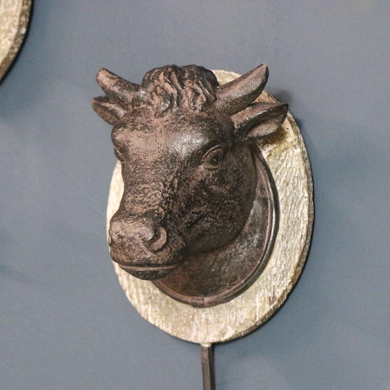 Rustic Wall Hook - Cow