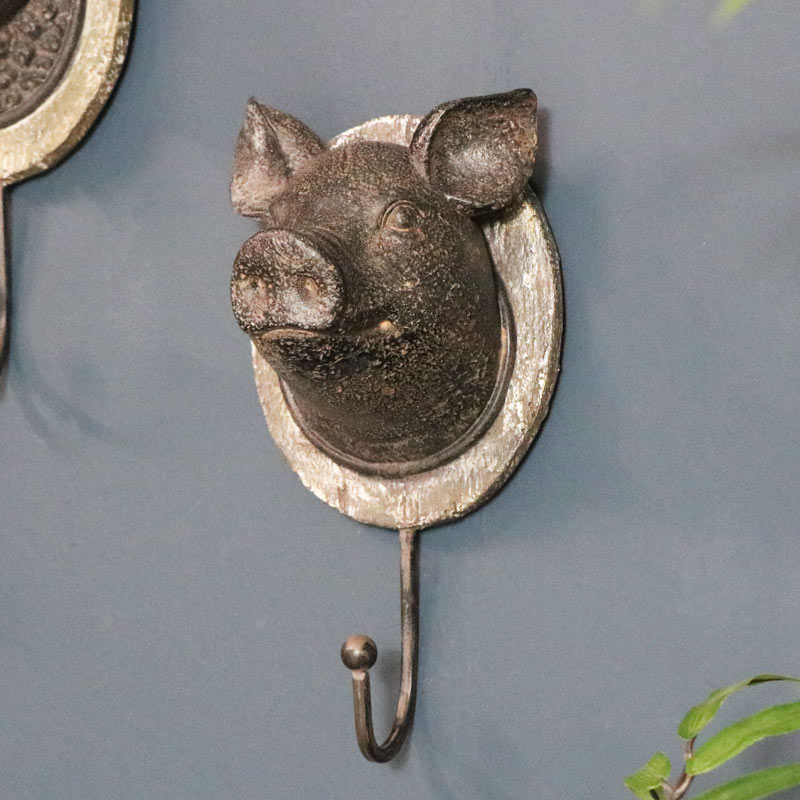 Rustic Wall Hook - Pig