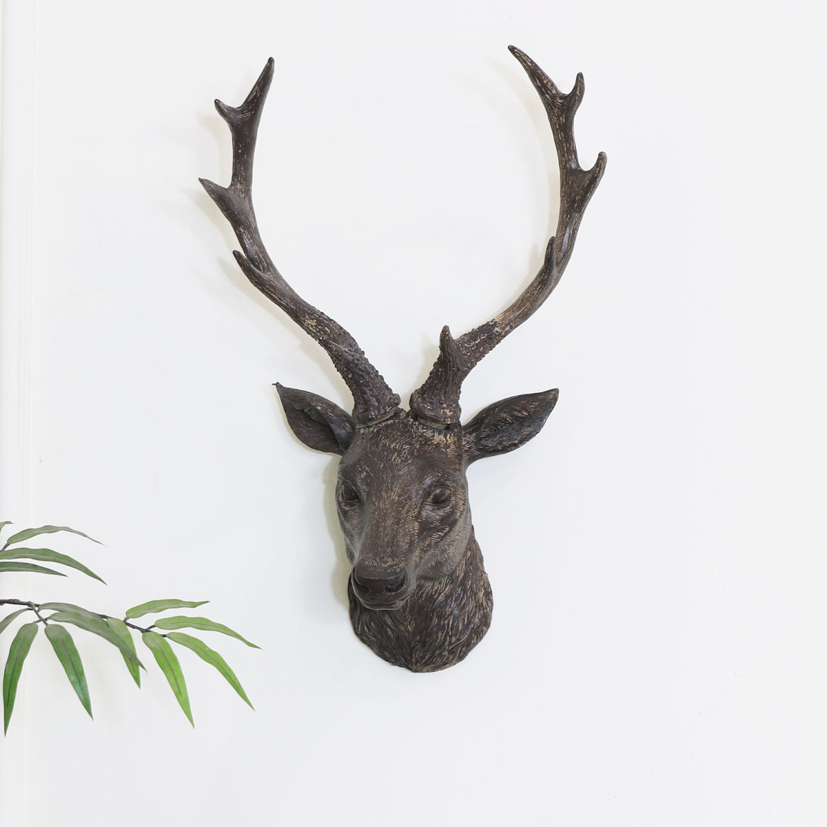 Rustic Wall Mounted Stag Head