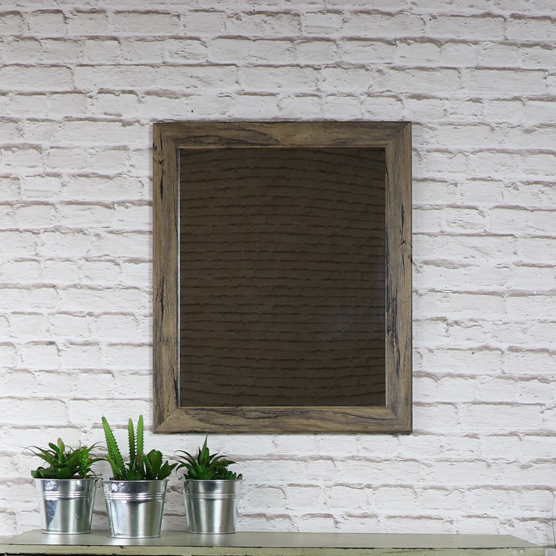 Rustic Washed Wall Mirror 49cm x 59cm