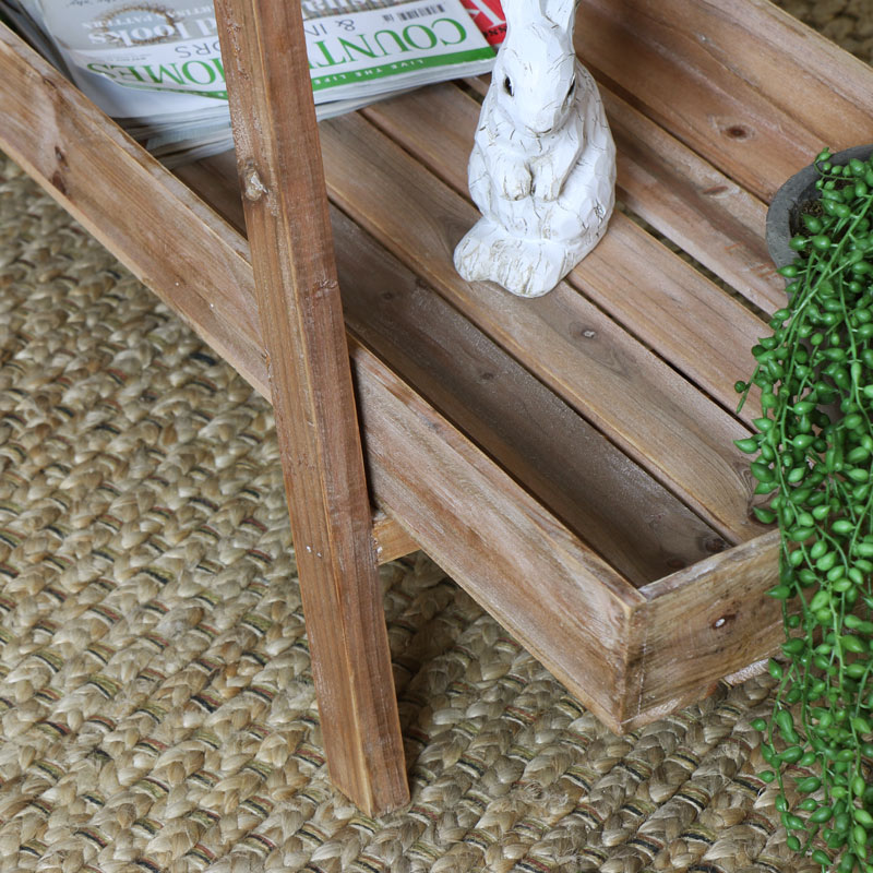 Rustic Wooden 3 Tier Display Stand