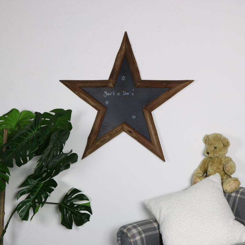 Rustic Wooden Barn Star wall Chalkboard