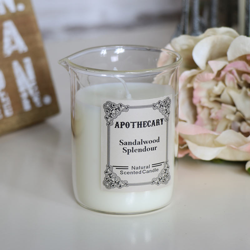 Apothecary Candle In Glass Beaker