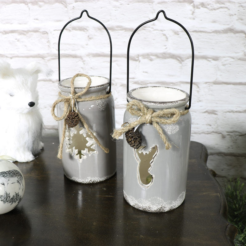 Set of 2 Christmas Lanterns