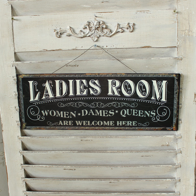 Set of 2 Ladies and Gents Wall Plaques