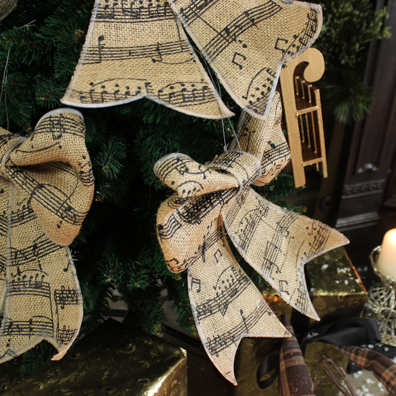 Set of 3 Music Note Bows